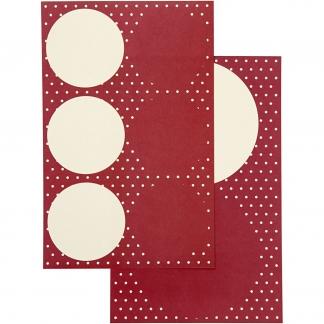 Stickers, diam. 4+6,5 cm, ark 9x14 cm, 4ass. ark
